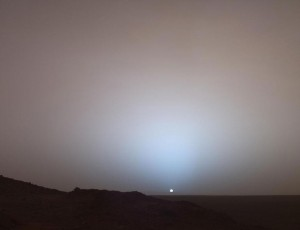 Mars view of the sunset.