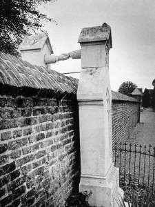 The graves of a Catholic woman and her Protestant husband. (Holland 1888)