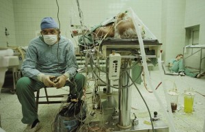 After a 23-hour long successful heart transplant.