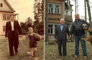 History repeating itself. (1949-2009) Father and Son picture